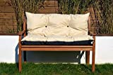 Cristal Gartenbankauflage Bankauflage Sitzpolster Bankkissen Sitzkissen und Rückenkissen Polsterauflage leicht zu reinigen 100 cm (Beige)