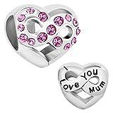 - 51j0aaT77AL - LuckyClover Jewellery Mum Charm Fit Pandora Charm Bracelets
