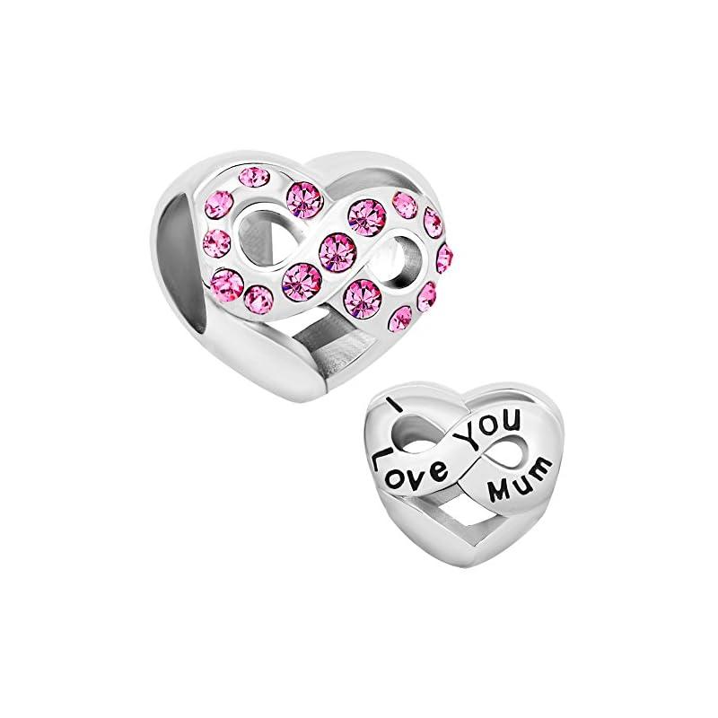 LuckyClover Jewellery Mum Charm Fit Pandora Charm Bracelets