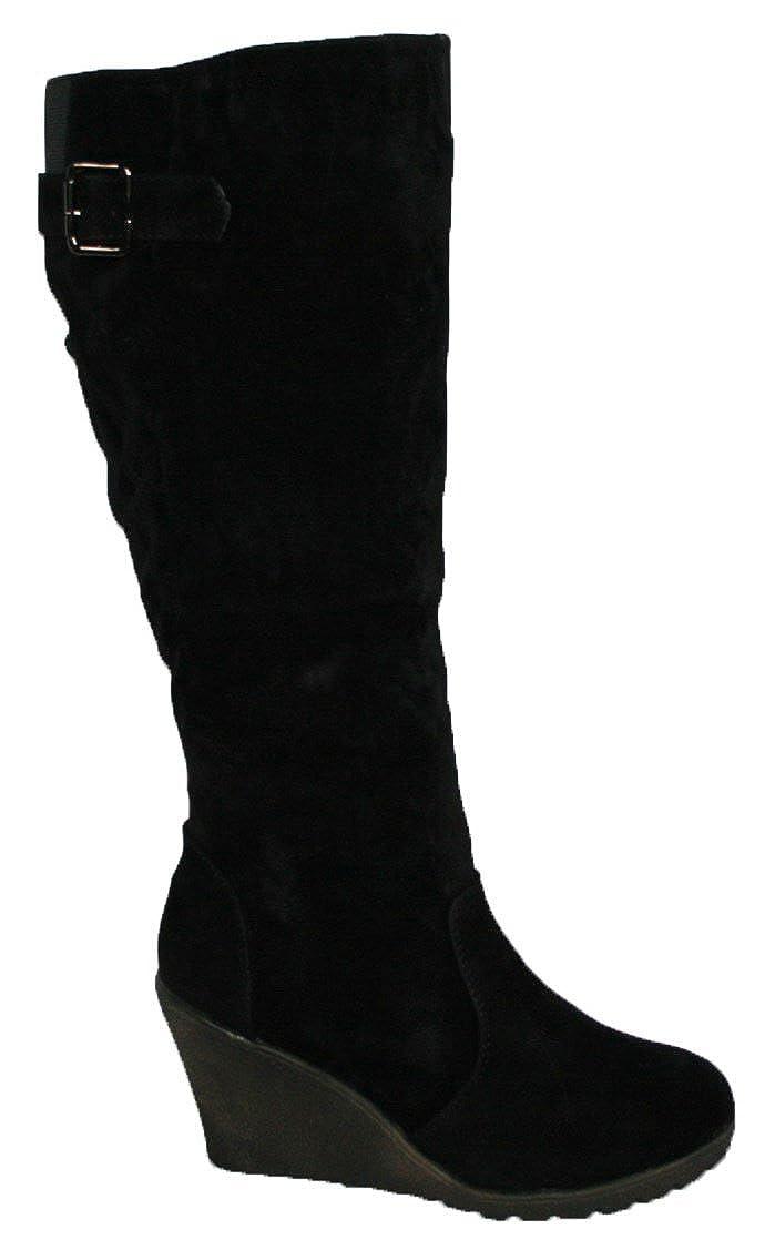 Black Boots With Wedge Heel
