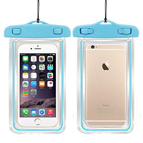 """Etanche Housse Etui Coque Case Pochette pour kayak/bateau/natation/Rafting-Sac étanche Waterproof Sac-serviette de séchage Apple iPhone 6, 6 Plus, 5S, 5, 5C, S6, Galaxy S4, S3, HTC One X/Galaxy Note 3/Note 2/LG G2 Protège votre téléphone portable (Bleu, 8""""*4.2"""")"""