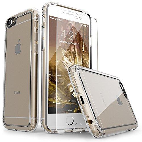 iPhone 6 Hülle, (Klar) SaharaCase® + [ZeroDamage gehärtetes Glas Bildschirmschutz] Schutz Kit Paket mit Null Schaden Robuster Schutz Anti-Rutsch-Griffigkeit [Stoß sicherer Puffer] Schlanke Passform (Iphone 6 Att 16gb Verwendet)