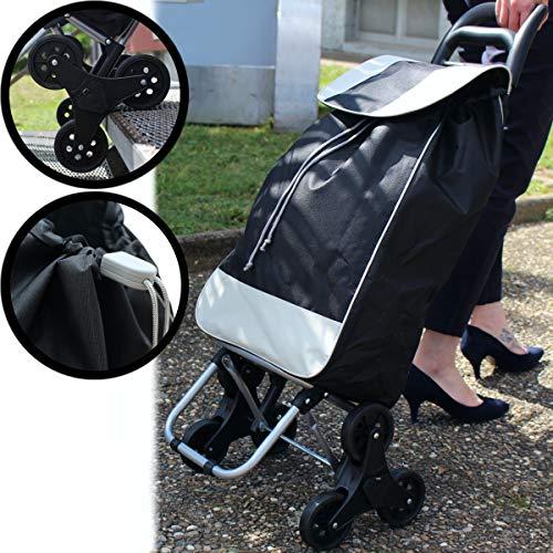 Stimo Einkaufstrolley klappbar mit 3-Rad-Mechanik/Treppensteiger Einkaufsroller