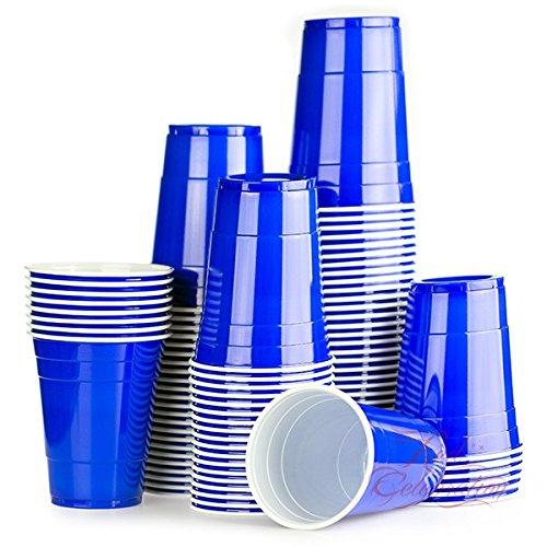Red Celebration 2500 x Bleu Gobelets Américains - Blue Cups - Beer Pong Original 50cl - Party Grand jetables Verres en Plastique 16oz - Plusieurs Couleurs | College & Anniversaire Tasses