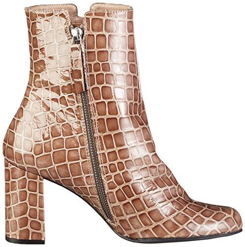 Paco Gil - P3151, Stivali a metà polpaccio con imbottitura leggera Donna Marrone (Braun (Topo))