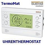 Elektronisches Uhren-Thermostat TermoMat von Suevia Aufputz-Thermostat Raumthermostat 8 Programme für Heizung oder Klimaanlage