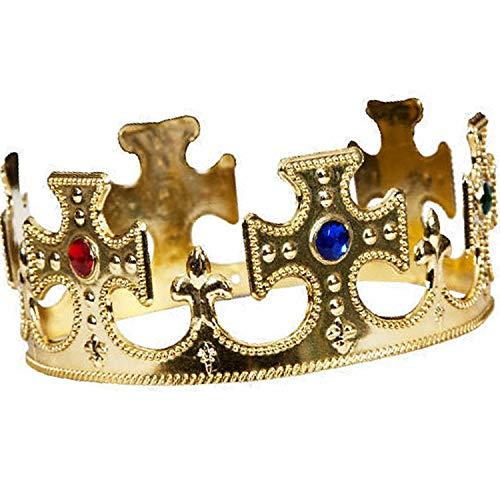 Lizzy Royal King Queen Gold Crown Herren Damen Erwachsene Kinder Kostüm Spielzeug UK