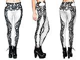 Alsino Leggings Damen Bedruckt Sexy Leggins Ladies mit Print Look Motiv Muster Stretch Legins Hose, Variante wählen:LEG-006 Alien