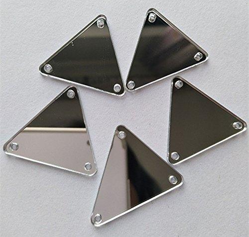 Spiegel-Steinchen zum Annähen, dreieckig, für Handarbeiten, verspiegelte Glassteine, für...