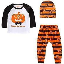 Niños Halloween Carnaval,Sonnena ❤ Halloween Niños pequeños bebé Pumpkin Tops Pantalones ...
