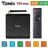 TANIX TX5 MAX Android 8.1 Mini PC, 4GB/64GB Android TV Box, UHD 4K