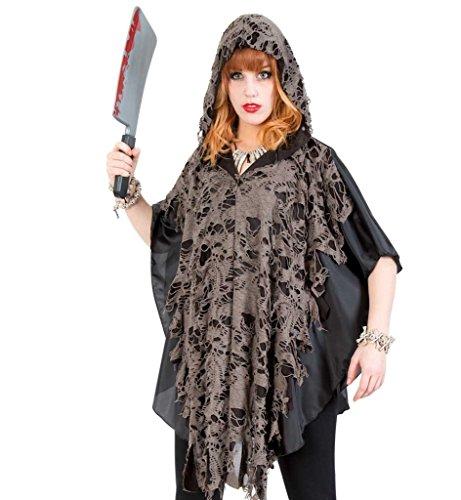 KarnevalsTeufel Kostüm Cape Zombie Halloween Fetzenumhang Überwurf Halloween Fasching Einheitsgröße