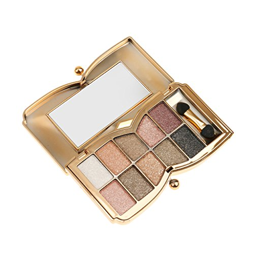 Generic Pro 10 Colors Diamond Eyeshadow Eye Shadow Palette Makeup Cosmetic Brush Set New - 6 Shades Available - 6#