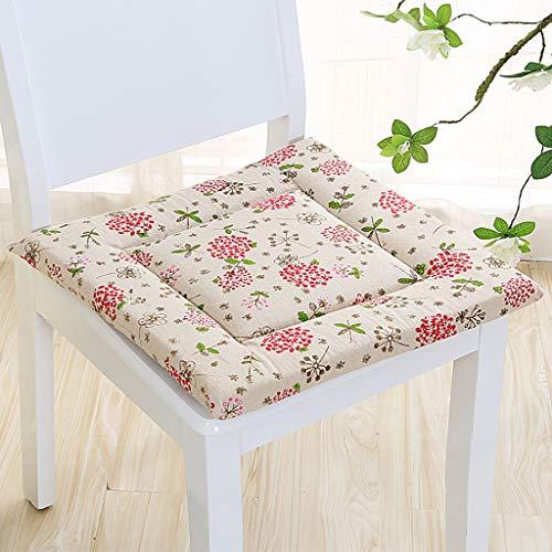 Aufblasbare Matratze Memory-schaum (YYRZGW Sitzkissen Komfort Premium Memory-Schaum Stuhlkissen Volles Quadrat Passt bürostuhl Schreibtischstuhl Esszimmerstuhl Rollstuhl-Rot)
