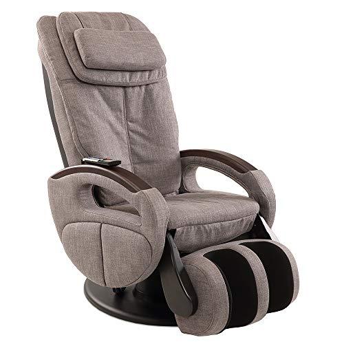 Massagesessel »Komfort Deluxe«, Shiatsu-Massage, Wärmefunktion, 4 Massagetechniken, 6 Massagezonen, Transportrollen, inkl. Kopf- & Nackenkissen, elektischer Relaxsessel (Stoff Graumeliert)
