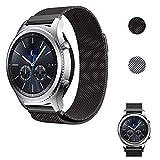 Tosenpo für Gear S3 ArmbandEdelstahl Milanese Magnet Armband Uhrenarmband für Frontier/Gear S3 Classic/Samsung Galaxy Watch 46mm UhrBand (schwarz)