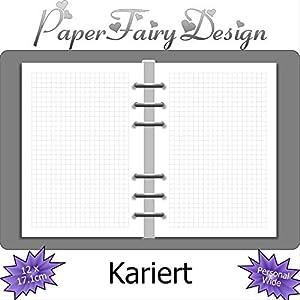 Kalendereinlagen - Personal Wide (12cm x 17.1cm) - Kariert - 120g Premium Papier