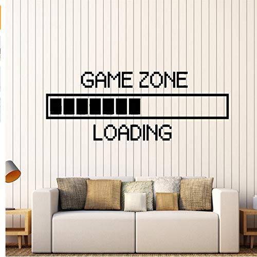 Zxfcczxf Spiel-Zone Computer-Spiel-Wand-Aufkleber-Vinylwand-Aufkleber-Dekor Das Videospiel-Wand-Tätowierungs-Entfernbare Tapete 35 * 89Cm Lädt (Kinder Halloween Lädt)