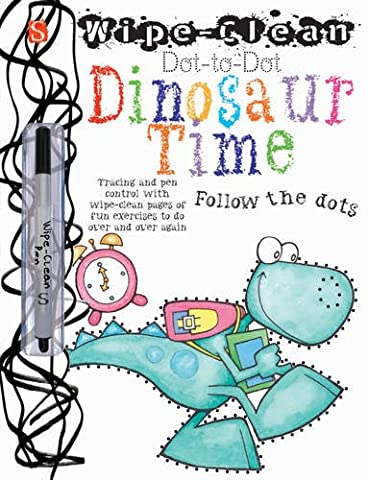 Dot-to-Dot Dinosaur Time (Wipe Clean)