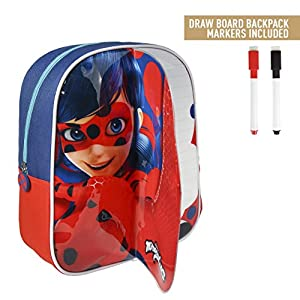 51j0fotBkBL. SS300  - takestop® - Mochila con diseño de Ladybug Lady Bug Miraculous, de 31 cm, Ideal para la Playa, la Escuela o el Almuerzo