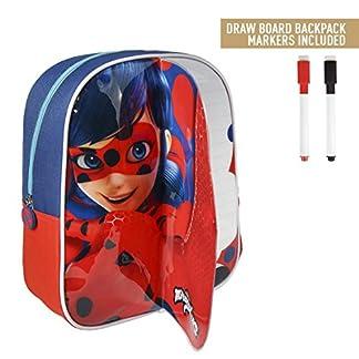 51j0fotBkBL. SS324  - takestop® - Mochila con diseño de Ladybug Lady Bug Miraculous, de 31 cm, Ideal para la Playa, la Escuela o el Almuerzo