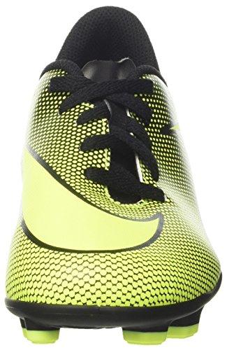 Nike Bravata Ii Fg, Chaussures d'entraînement de football mixte enfant Noir (Black/volt)