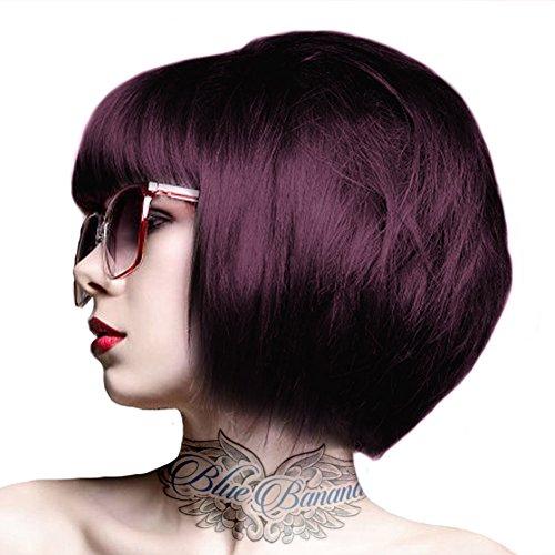 Crazy Color Coloration Semi-Permanente Couleur Vibrante 100ml (Aubergine - Violet Foncé)