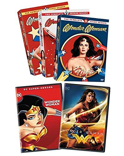 Ultimate Wonder Woman DVD Collection: Wonder Woman [2017, Gal Gadot] / Wonder Woman: The Complete Series (Seasons 1, 2, 3) [1975, Lynda Carter] / DC Super Heroes: Wonder Woman [2017, Animated]