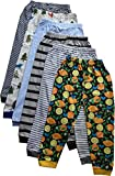 NammaBaby Unisex Cotton Pajama Pants (Multicolour,3-4 years) - Pack of 6