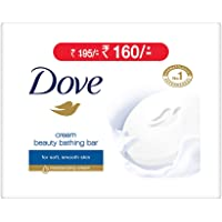 Dove Cream Beauty Bathing Bar, 100g (Pack of 3, Now at Rupees 29 Off)