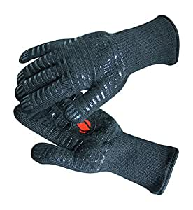 Grill Heat Aid Extreme Hitze Grill Handschuhe zum Backen, Grillen, & Backofen, Schutz bis zu 932°F, schwarz