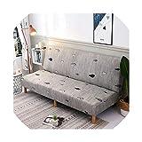 azalea store 160 215 cm Elastic Printed Sofa Bettdecken ohne Armlehne Feste Verpackung Couch Abdeckung Stretch Möbel Flexible slipcovers Sofa Handtuch, K249, L Größe 185-215cm