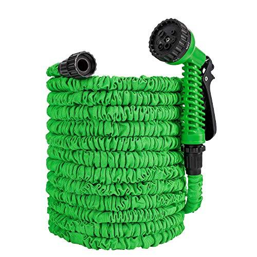 Flexibler Gartenschlauch,100FT 30m Flexischlauch Gartenschlauch Wasserschlauch mit 9 Funktionen Spritzpistole Flexible Dehnbar Gartenschlauch für Gartenbewässerung, Hof,Reinigung und Autowäsch
