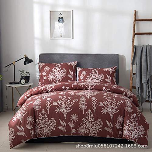 Jacquard-400-thread (Baohu-bedding, Bettwäsche-Sets DREI-teilige Gewaschene Baumwolle, Vier-teilige europäische Code-Kit-Bettwäsche zum Schleifen (Color : 7, Size : 135cm*200cm(2pcs)))