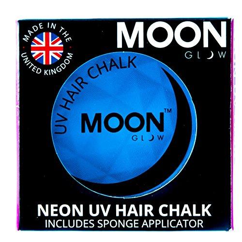Moon Glow -Neon-UV-Haarkreide3.5gBlau-ein spektakulär glühender Effekt bei UV- und Schwarzlicht!