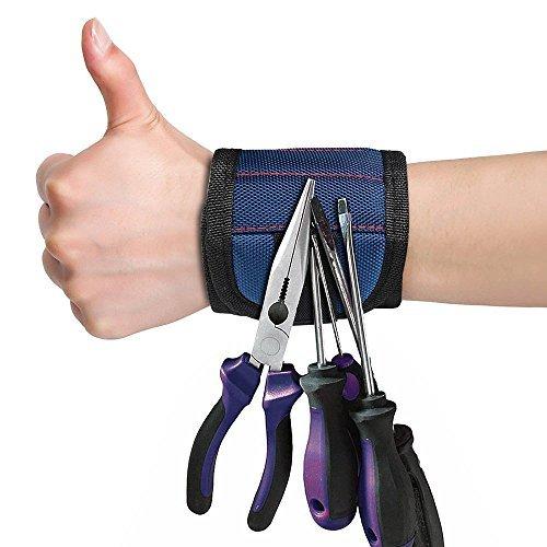 Magnetische Armbänder, hält Kleine Metall Werkzeug, Schrauben, Nägeln, Schrauben Fest während Arbeiten. Best und Cool Werkzeug Geschenk für Vater, Ehemann, Freund, Heimwerker, Frauen und Gebur -