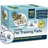 PrincC10aws Haustier-Trainings-Welpen-Polster für Hunde, 100 Stück, mit Klebeband, groß, 24 x 24, Toilettentöpfchen für Hunde