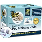 PrincePaws Pet Training Puppy Pads - Pee Pads for Dogs 100 Count with Adhesive Tape, Large 24x24, Toilet Potty Pet Pee…