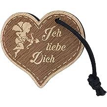 """Schlüsselanhänger Herz """"Ich Liebe Dich"""" aus Holz sehr gute Qualität Partnergeschenk Anhänger vom ORIGINAL endlosschenken"""