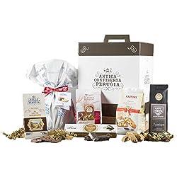 Cesta Navideña Gourmet - Cesta de Regalo con Panettone Italianos, Chocolate y Productos típicos de Navidad - Dolce Natale
