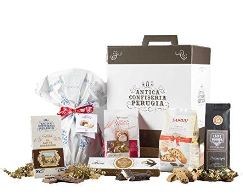 Dolce natale - cesto natalizio con panettone artigianale, cioccolato e prodotti tipici di natale