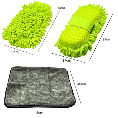 AutoEC-Guanto-in-microfibra-per-la-pulizia-set-per-la-pulizia-dellauto-in-ciniglia-composto-di-spugna-con-cinghia-elastica-panno-in-microfibra-e-guanto-ultra-morbido-utilizzabile-asciutto-o-bagnato