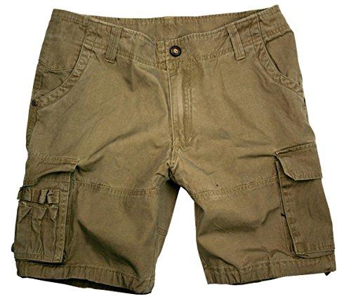 Damen Cargo Shorts mit extra Taschen in blau, rost und grau- beige, hergestellt aus robuster Baumwolle (Stretch-reiten-jean)
