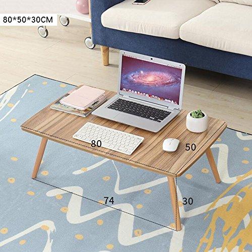 NYDZ Schreibtisch-Computer-Tisch-großes Bett-Behälter-faltbares Stand-glattes Frühstücks-Umhüllungs-Unterstützungs-Lesebuch-Vielseitigkeit (Farbe : C, größe : 80 * 50 * 30cm) -