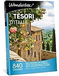 WONDERBOX Cofanetto Regalo - TESORI d'Italia - 840 SOGGIORNI per 2 Persone O in Famiglia