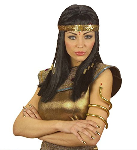 GCC Fashion Store Ladies Egyptian Beaded Sequin Gold Headress Snake Girls Egypt Fancy - Antike Griechische Lady Kostüm