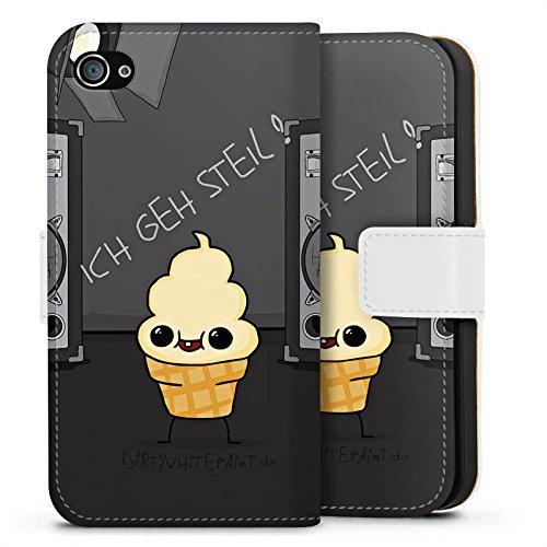 Apple iPhone X Silikon Hülle Case Schutzhülle DirtyWhitePaint Fanartikel Merchandise ICH GEH STEIL Sideflip Tasche weiß