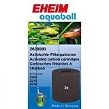 Eheim 7006046 Aquarium Aktivkohlepatrone Für Innenfilter, Aquaball und Biopower, 2 Stück