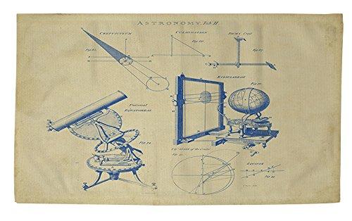 Manuelle holzverarbeiter & Weavers Dobby Bad Teppich, 4von druckknopfstiel, Vintage Astronomie Teleskop (Vintage Astronomie)
