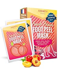 Exfoliating Foot Peeling Mask for Soft Baby Feet - 2 Pairs - Removes Calluses, Dead and Dry Skin - Repairs Rough Heels in 7 Days; For Men and Women; Natural Gel Socks Booties; Antioxidant (Peach)